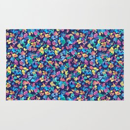 Colorful ditsy flowers Rug