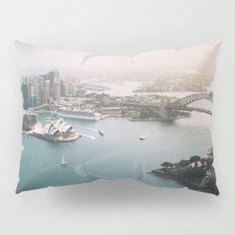 Sydney Opera House Harbour Bridge | Australia Aerial Travel Photography Pillow Sham