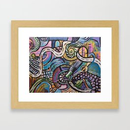 FREESTYLE: Pinky Purple Framed Art Print
