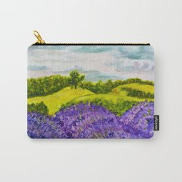 Lavender Fields Watercolor Carry-All Pouch