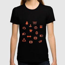 Vehicle Dash Warning Symbols T-shirt