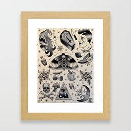 The Moth Awaits Framed Art Print