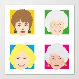 The Golden Girls, Betty White, Bea Arthur, Rue McClanahan, Estelle Getty Canvas Print