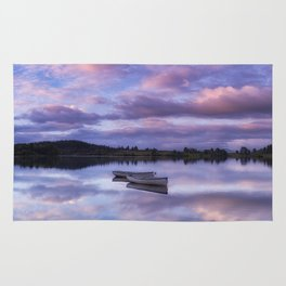 Purple Boats Rug