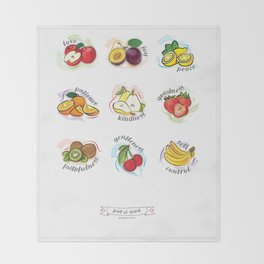 FRUITS OF THE SPIRIT Throw Blanket