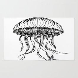 Jellyfish Octopus Creature Imaginitive  Rug