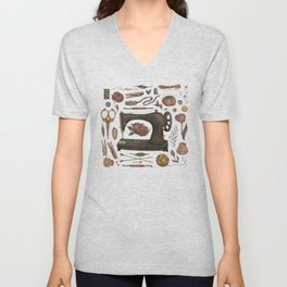 Sewing Collection Unisex V-Neck