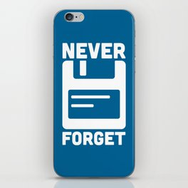 Never Forget Floppy Disk iPhone Skin