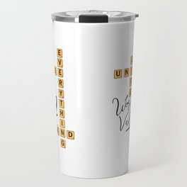 Life Universe and Everything Scrabble 42 Travel Mug