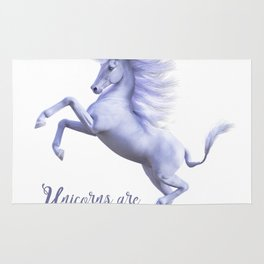 Unicorns are real,birthday, gift, party,girl Rug