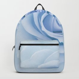 Soft Baby Blue Rose Abstract Backpack