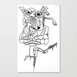Pig Graphic Canvas Print