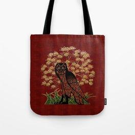 Owl Tapestry Tote Bag
