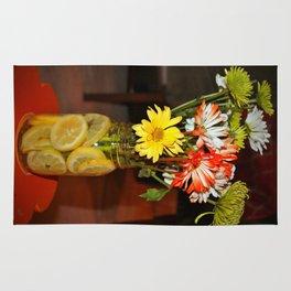 Lemon Water For Flowers Rug