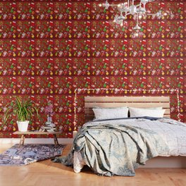 Cute Christmas Mix, red Wallpaper