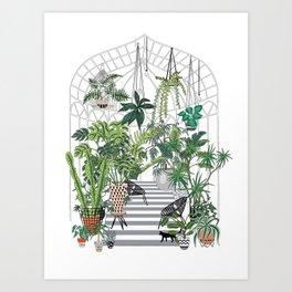greenhouse illustration Art Print