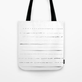 Minimalist Lines in Gray Tote Bag