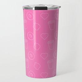 pink cofe Travel Mug