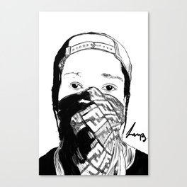 ASAP Rocky Drawing Canvas Print