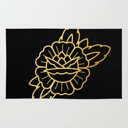 Gold Traditional Rose Rug