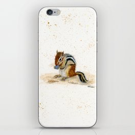 """Chippy"" Chipmunk - animal watercolor painting iPhone Skin"