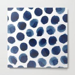 Watercolor polka dots Metal Print