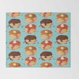 Pancake Sunday Throw Blanket
