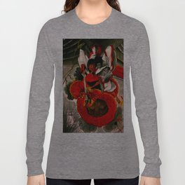 older traditional japanese watercolor (air battle)  Long Sleeve T-shirt