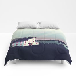 Castle in the Mountains Comforters