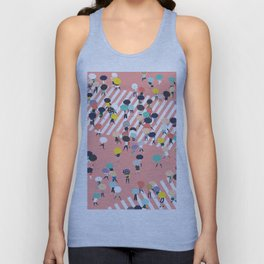 Crossing The Street On a Rainy Day Unisex Tank Top