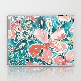 HELLO HIBISCUS - CORAL Laptop & iPad Skin