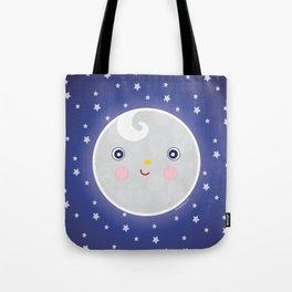 Happy Moon Man Tote Bag
