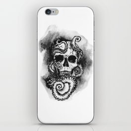 Skull and Octopus Together Forever by annmariescreations iPhone Skin