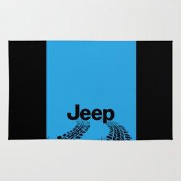Jeep 'Tire-tracks' Surfblue Rug