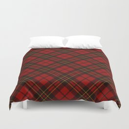 Adorable Red Christmas tartan Duvet Cover