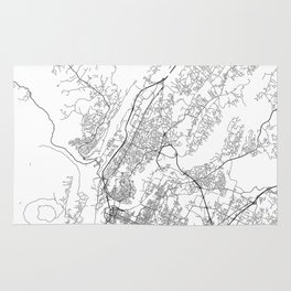 Minimal City Maps - Map Of Chattanooga, Tennessee, United States Rug