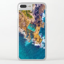 Global Peninsula View (Color) Clear iPhone Case