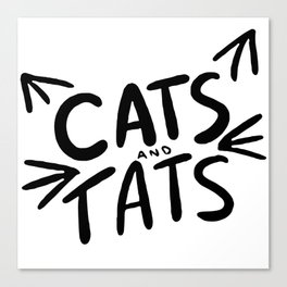 Cats & Tats Canvas Print