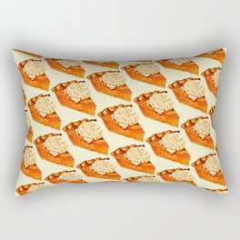 Pumpkin Pie Pattern Rectangular Pillow