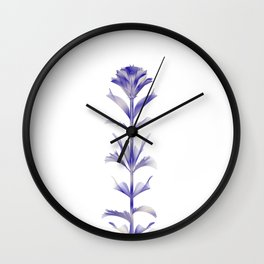 Purple Blooms Abstract city chic flower Wall Clock