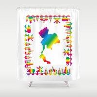 thailand Shower Curtains featuring Rainbow Thailand by FACTORIE