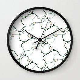 Vaporwave Vines Wall Clock