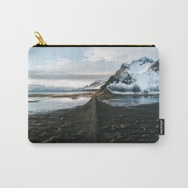 Mountain beach road in Iceland - Landscape Photography Carry-All Pouch