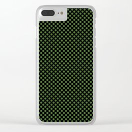Black and Treetop Polka Dots Clear iPhone Case