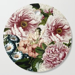 Vintage Peony and Ipomea Pattern - Smelling Dreams Cutting Board