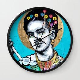 Frida Urban Art Wall Clock
