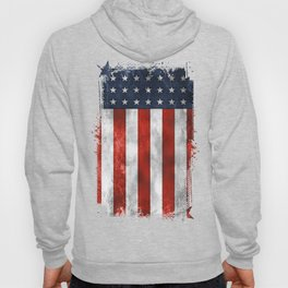 American Flag Stars and Stripes Distressed Grunge 4th. July Hoody