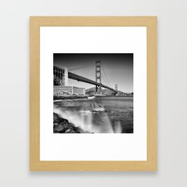 Golden Gate Bridge with breakers Framed Art Print