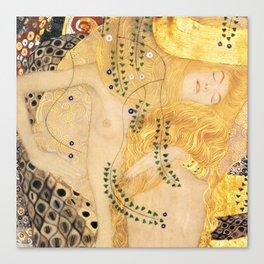 Water Serpents - Gustav Klimt Canvas Print