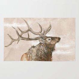 Misty Morning Elk Rug
